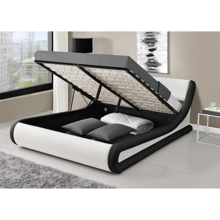 mercure lit adulte 140x190 cm en simili t te de lit. Black Bedroom Furniture Sets. Home Design Ideas