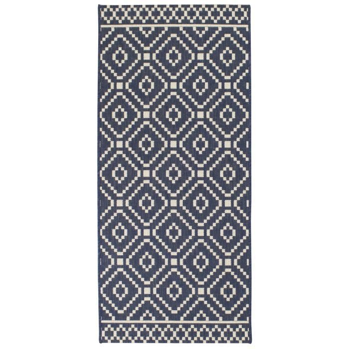 tapis de cuisine sisal style moderne 67x140 cm marine achat vente tapis 100 polypropyl ne. Black Bedroom Furniture Sets. Home Design Ideas