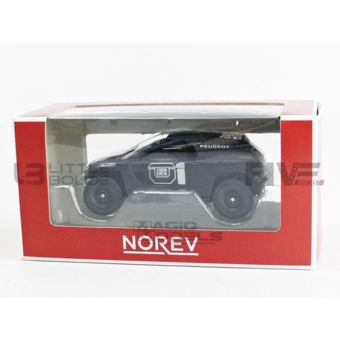 Voiture Miniature de Collection - NOREV 1/64 - PEUGEOT 2008 DKR - Black / White - 319111_2008DKR