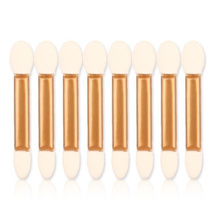 Applicateur de bâton d'eyeliner de pinceau d'éponge d'ombre à paupières de maquillage à double extrémité 50pcs WSB80329635_7278