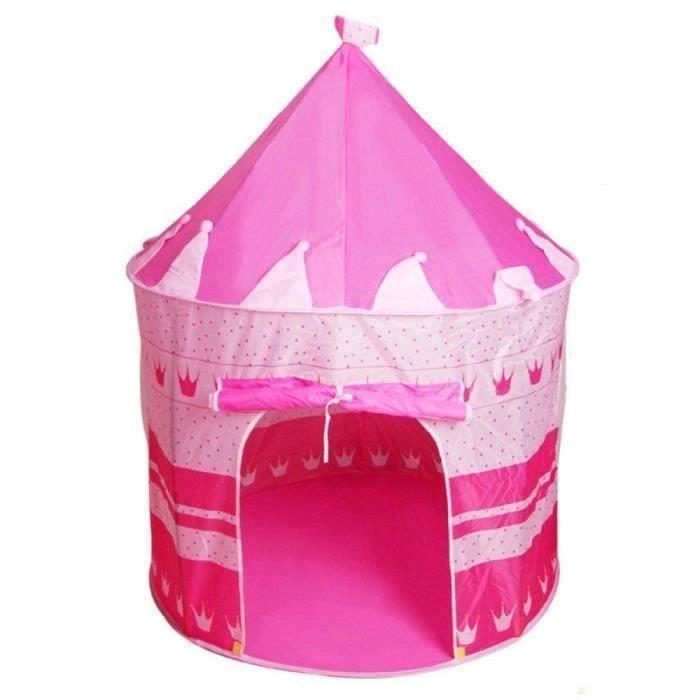 pour Enfants Princesse Tente Maison De Jeux pour Enfants Intérieur Yourte Château Enfants Ramper Maison Jouet Salle,Pink