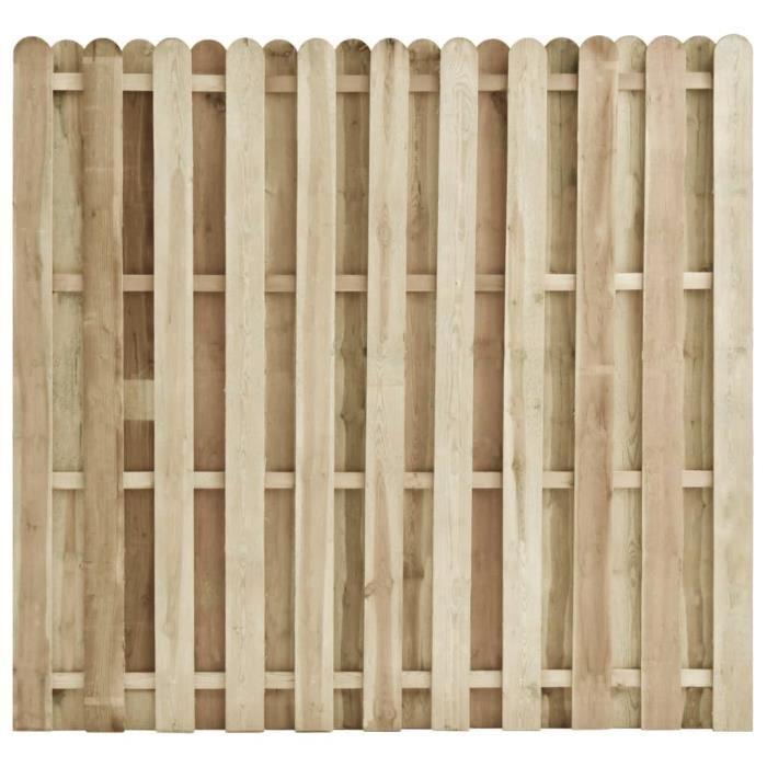♫4312 Clôture Classique Brise vue - Clôture de jardin Brise vue Bois de pin imprégné 180x170 cm FNCM®