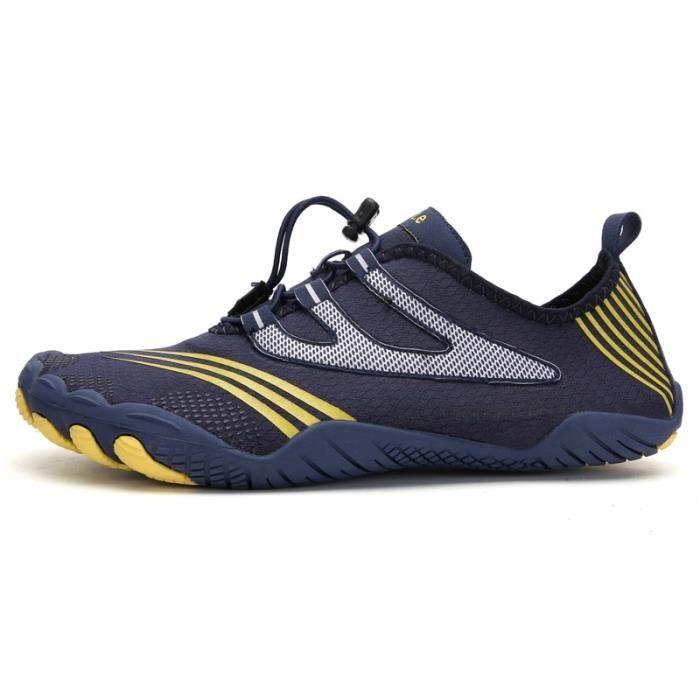 A088 blue 46 -Vanmie – chaussures de Sport aquatique pour hommes et femmes, baskets de plage, nu pieds pour la natation, taille 38 à