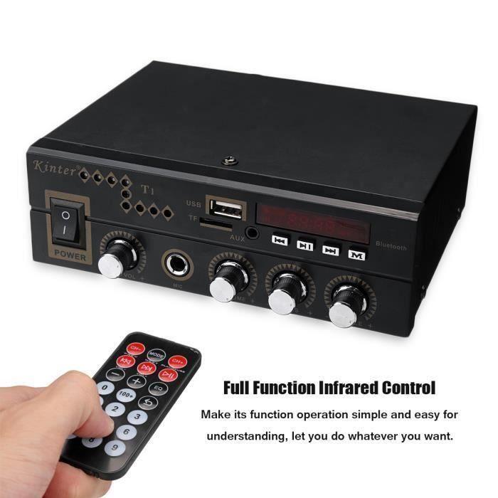 KINTER Bluetooth Amplificateur Stéréo Voiture 12V 220V FM USB TF MP3 Audio Lecteur Ampli Hi-Fi Maison Auto 35W+35W