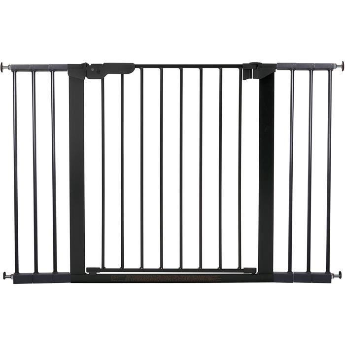 Premier Barrière à Fixation par Pression pour Porte/Escalier, Noir, 112 - 119,3 cm
