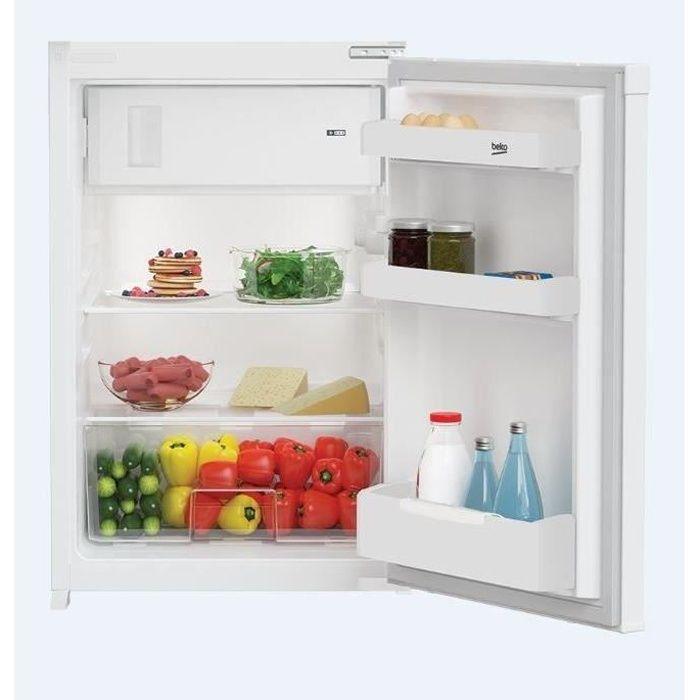 BEKO B1753HCN - Réfrigérateur intégrable Table Top 110L (97+13L) - Froid statique - L54,5x H86,6cm - Blanc