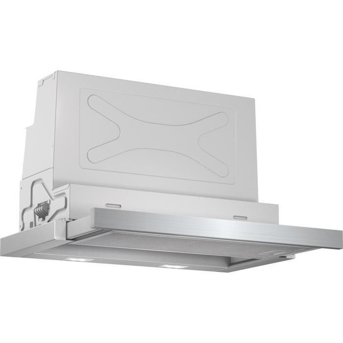 BOSCH DFS067A50-Hotte tiroir téléscopique-Evacuation / recyclage-740 m3 air / h-55 dB max-A-4 vitesses-L 60 cm-Inox