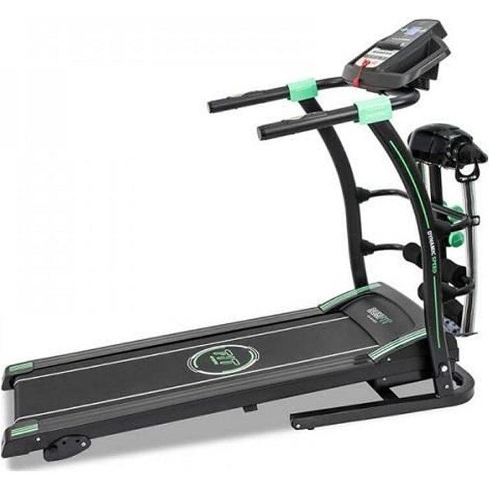 Cecotec Tapis de course Runfit Sprint Vibrator, Ceinture de massage, Jusqu'à 14 km/h. Pliable hydraulique