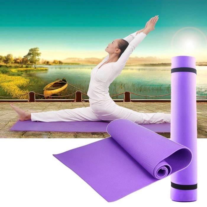 Tapis de sol, Tapis de sport, Tapis de gymnastique, Tapis de yoga en Mousse 180cmX60cmX0.6cm VIOLET