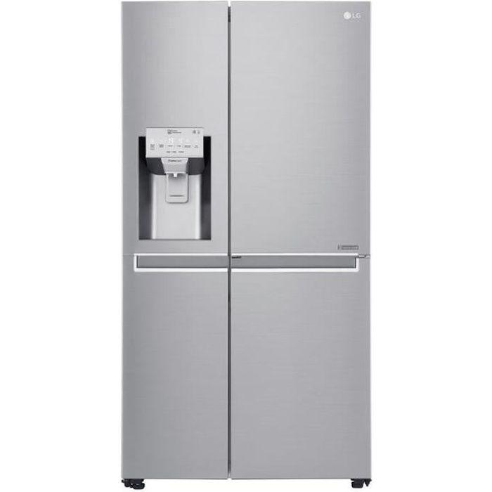LG Réfrigérateur américain GSS6676SC - Door in Door - Total No Frost - Magic Crisper - 601L - A++