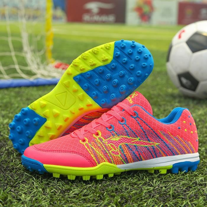 Chaussures de Football Homme Enfant Entrainement Chaussures de Sport Adolescents Chaussures de Foot