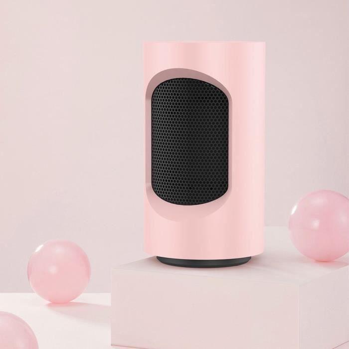 180 degrés Mini chauffage de bureau domestique,rose