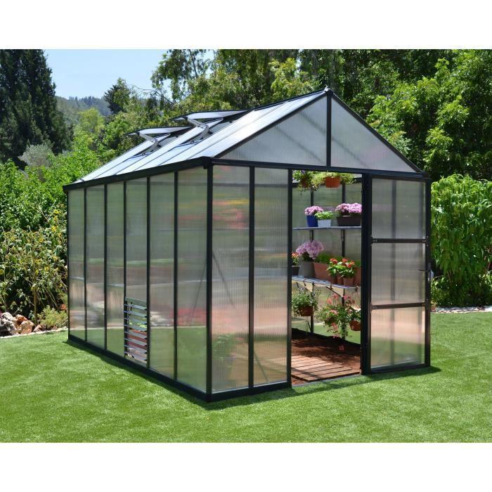 PALRAM Serre de jardin Glory 8,6 m² - Aluminium et polycarbonate - Double parois