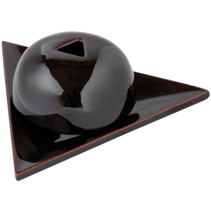 Brûleur à papier d'Armenie en ceramique - noir grisé