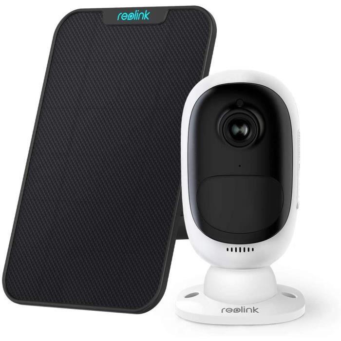 Reolink Caméra Surveillance Solaire WiFi sur Batterie 1080P HD Extérieure Couleur Capteur Starlight PIR Argus 2 avec Panneau solaire