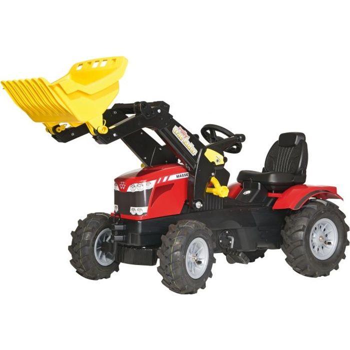 Tracteur à pédales rouge ROLLY TOYS MASSEY FERGUSSON Farmtrac - Véhicule pour Enfant