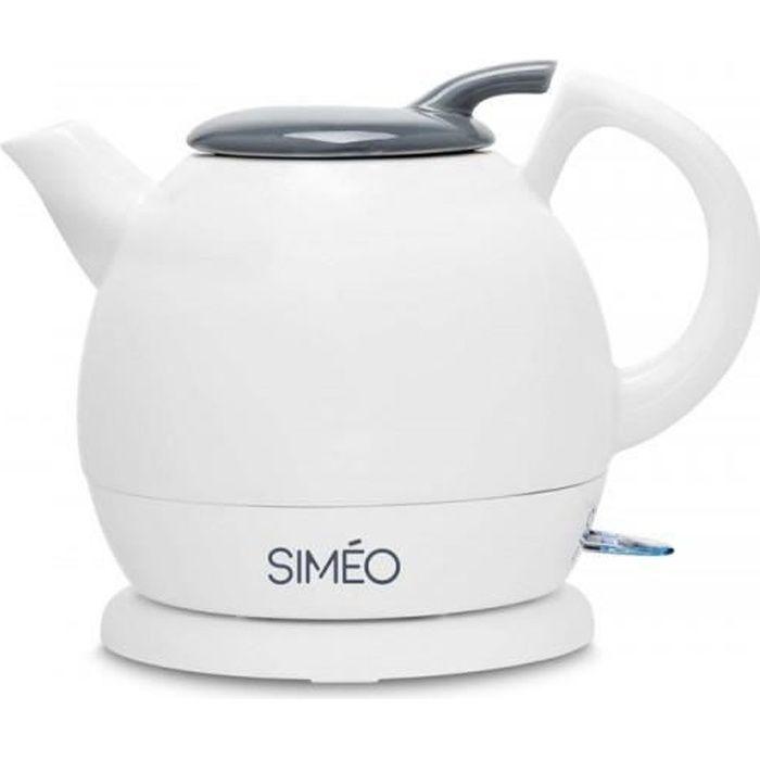 SIMEO Bouilloire Céramique 0.8l - 1700W BFC200 Blanc