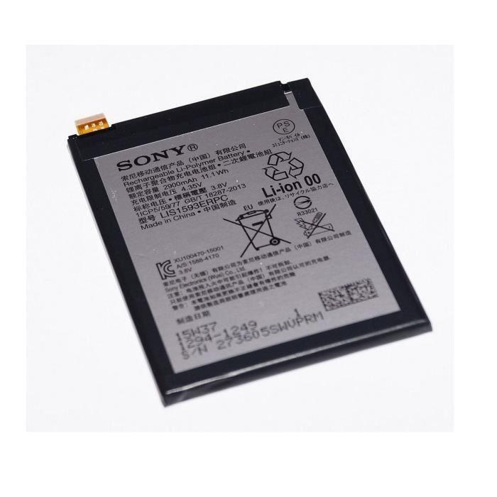 batterie original SONY LIS1593ERPC 1294-1249 2900mAh pour Xperia Z5 E6653 E6683
