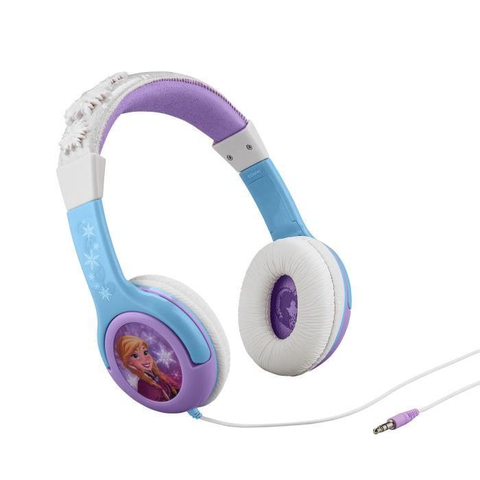 REINE DES NEIGES casque audio enfant Kidsafe Premium - Arceau réglable pour enfant