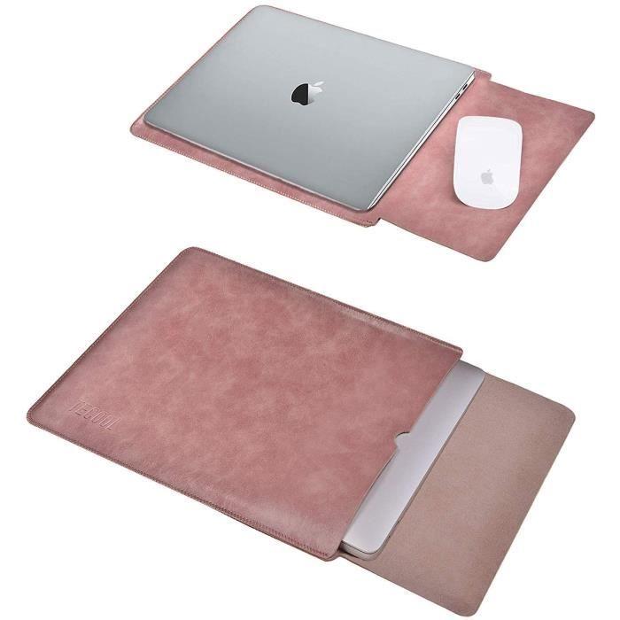 13 Pouce Housse Protection pour Macbook Air - Pro, TECOOL Laptop Sleeve Pochette Étui Sacoche pour HP Envy Dell XPS -Vieux Rose