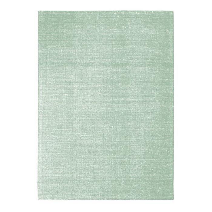 NUDE - Tapis en laine et coton vert clair 120x170