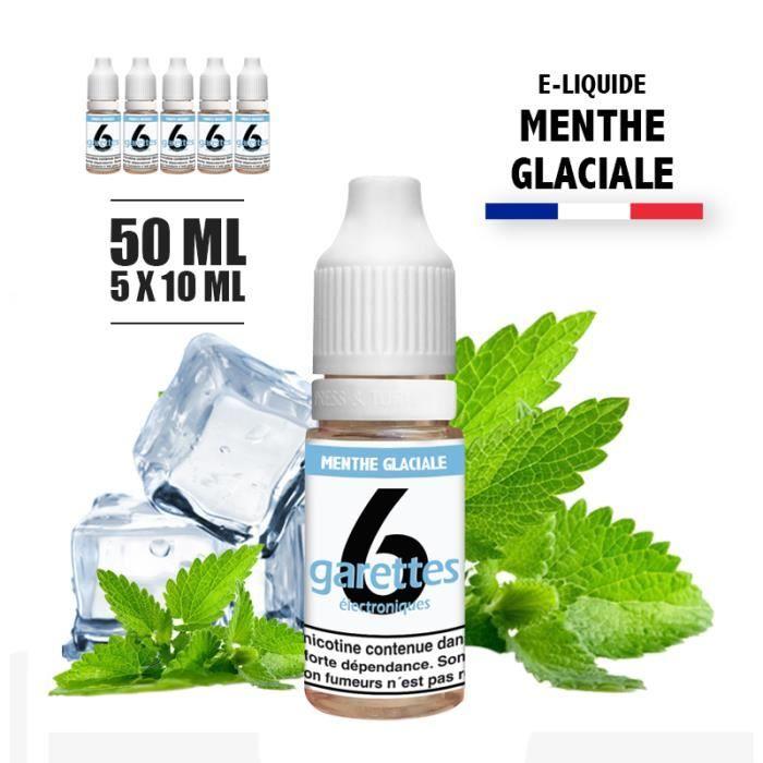 E-liquide 50ML saveur MENTHE GLACIALE avec 12MG de nicotine (e-liquide id : PRD2648) - (5x10ML)