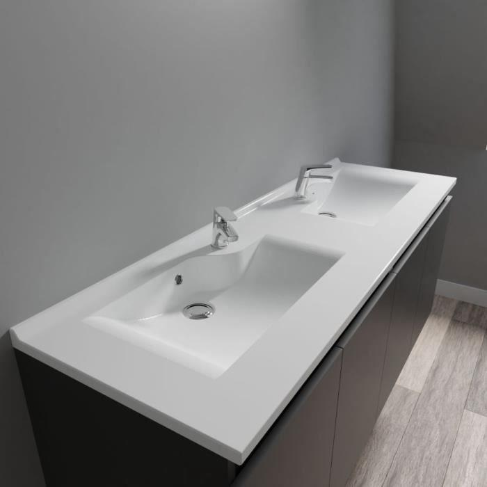 CREAZUR Plan double vasque 140cm