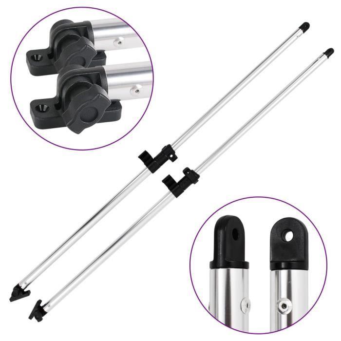 GES Poteaux de soutien de dessus Bimini 2 pcs Pièces détachées et accessoires nautiques en aluminium anodisé 66 - 110 cm