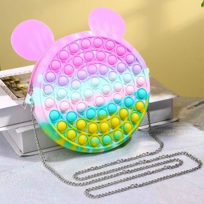 HYM17988-Sac Bandoulière-fidget toys Toy Anti Stress, popit Jeux Pas Cher, Multicolore popite fijets Toys -Mickey