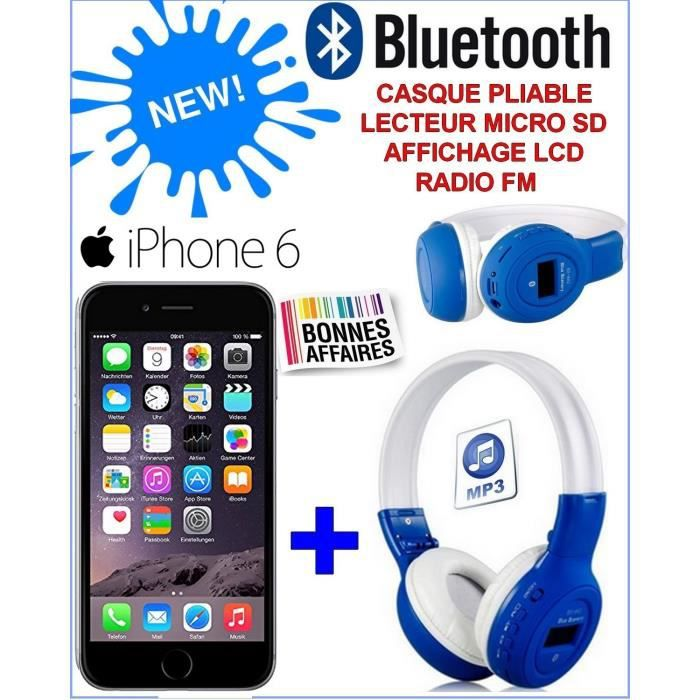 apple iphone 6 grey casque stereo bluetooth sans fil. Black Bedroom Furniture Sets. Home Design Ideas