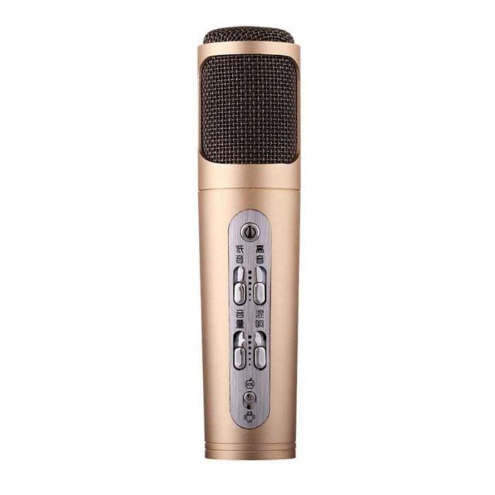 HAUT-PARLEUR - MICRO Mini Handheld filaire Microphone à condensateur Mi