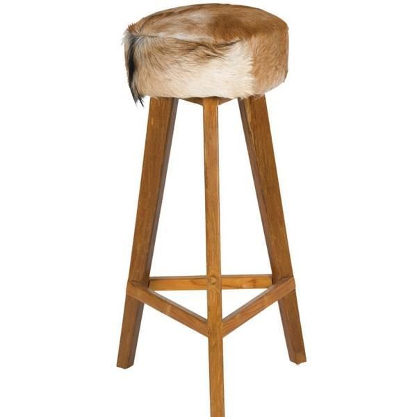 Tabouret De Bar Fourrure Naturel Nature Meuble House