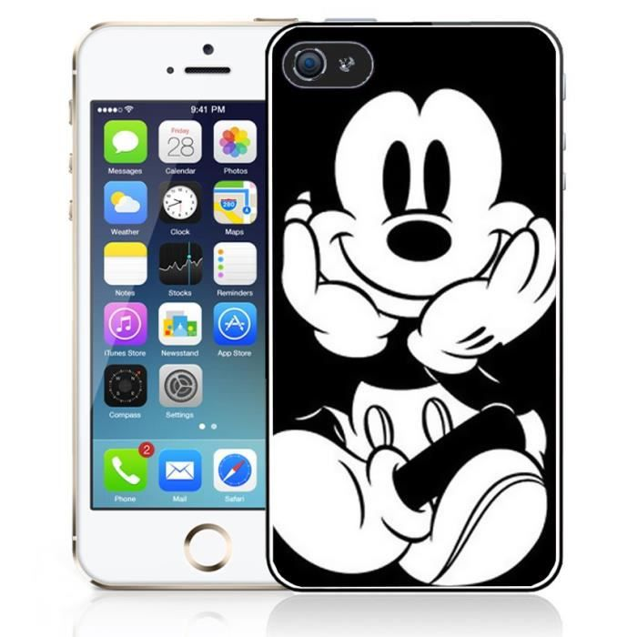 Coque iPhone 5C Mickey Noir et Blanc