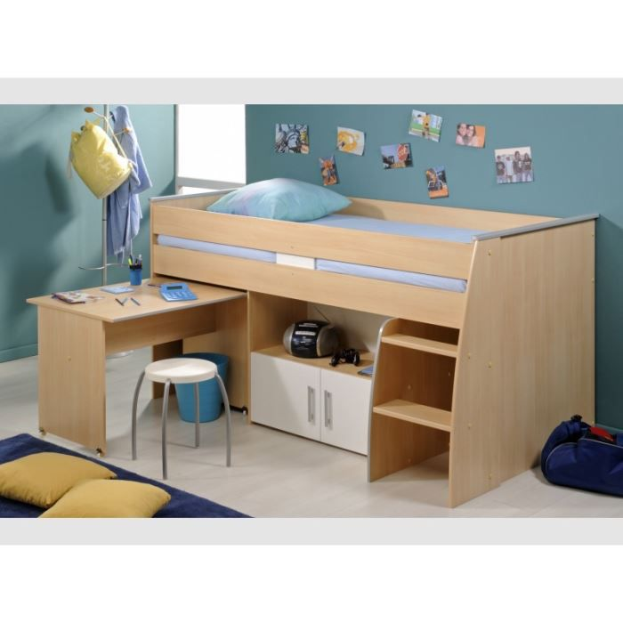 combin lit snoop achat vente lit combine combin lit snoop panneaux de particules papier. Black Bedroom Furniture Sets. Home Design Ideas