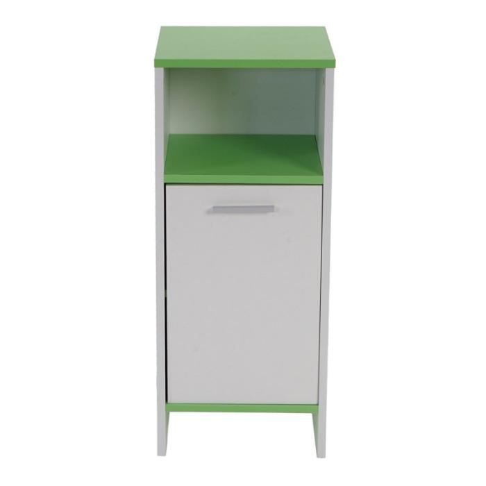 meuble de salle de bain commode 82x32x28cm blanc vert. Black Bedroom Furniture Sets. Home Design Ideas