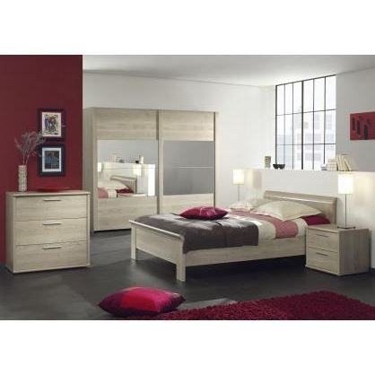 Chambre coucher adulte compl te fanny 140x200cm achat for Style chambre a coucher adulte