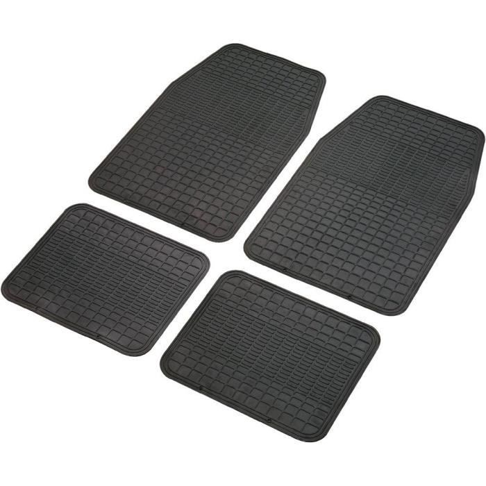 set de 4 tapis de voiture universel noir achat vente tapis de sol set de 4 tapis de voiture. Black Bedroom Furniture Sets. Home Design Ideas