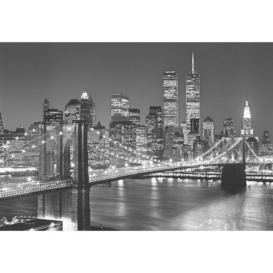 poster mural new york noir et blanc. Black Bedroom Furniture Sets. Home Design Ideas