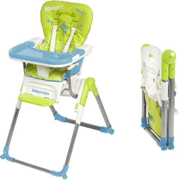 Chaise Haute Compacte Slim Vert Bleu Achat Vente Chaise Haute 3661276006140 Cdiscount