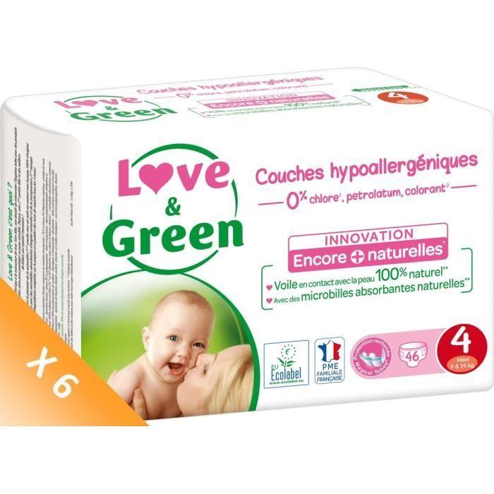 COUCHE LOVE AND GREEN Couches écolabellisées T4 - 276 cou