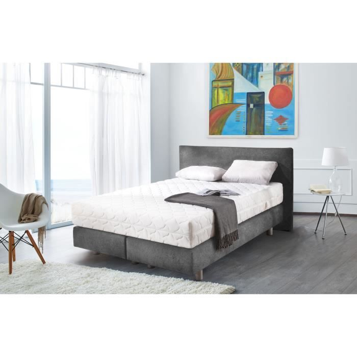 sleepwell lit adulte avec t te de lit matelas ressorts. Black Bedroom Furniture Sets. Home Design Ideas