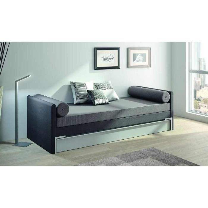 banquette lit gigogne adulte 2 matelas 90x190 achat. Black Bedroom Furniture Sets. Home Design Ideas
