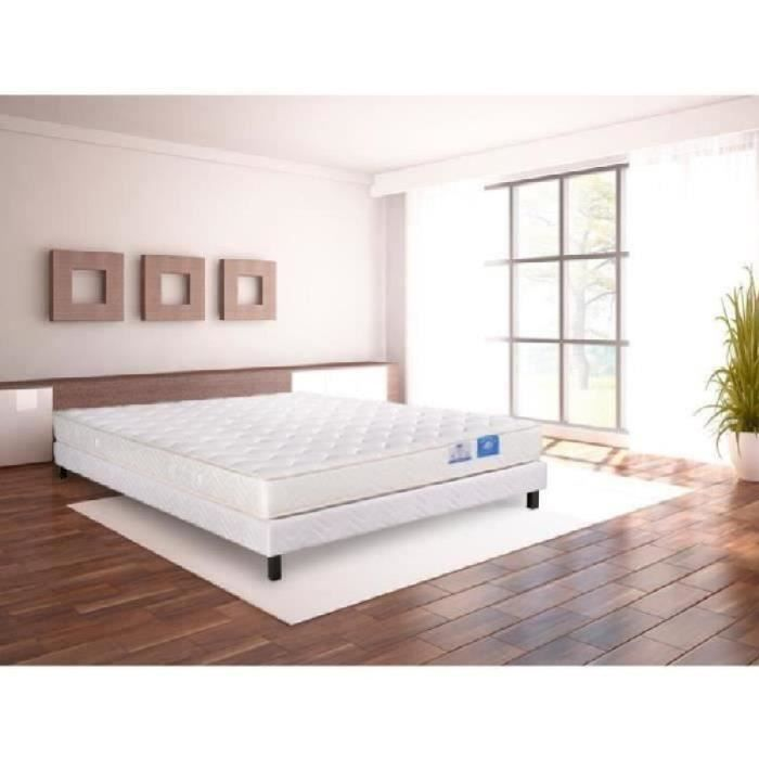 benoist belle literie ensemble matelas sommier 140x190cm 20cm 100 latex quilibr achat. Black Bedroom Furniture Sets. Home Design Ideas