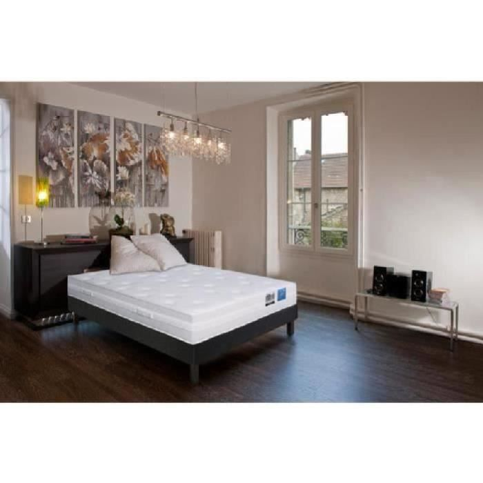 vip soie ensemble matelas sommier 140x190 ressorts 620 ressorts ensach s 30cm equilibr. Black Bedroom Furniture Sets. Home Design Ideas