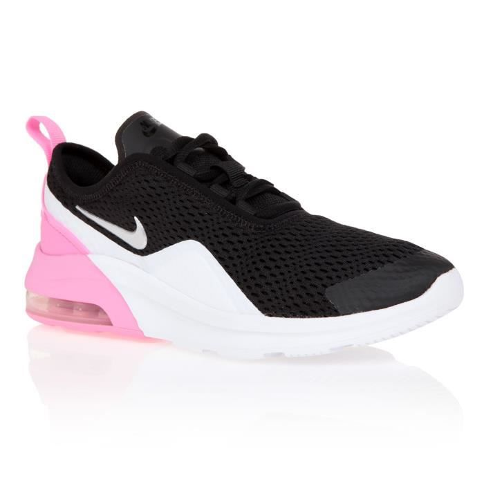 NIKE Air Max Motion 2 - ENFANT GS - Noir/Blanc/Rose Blanc ...