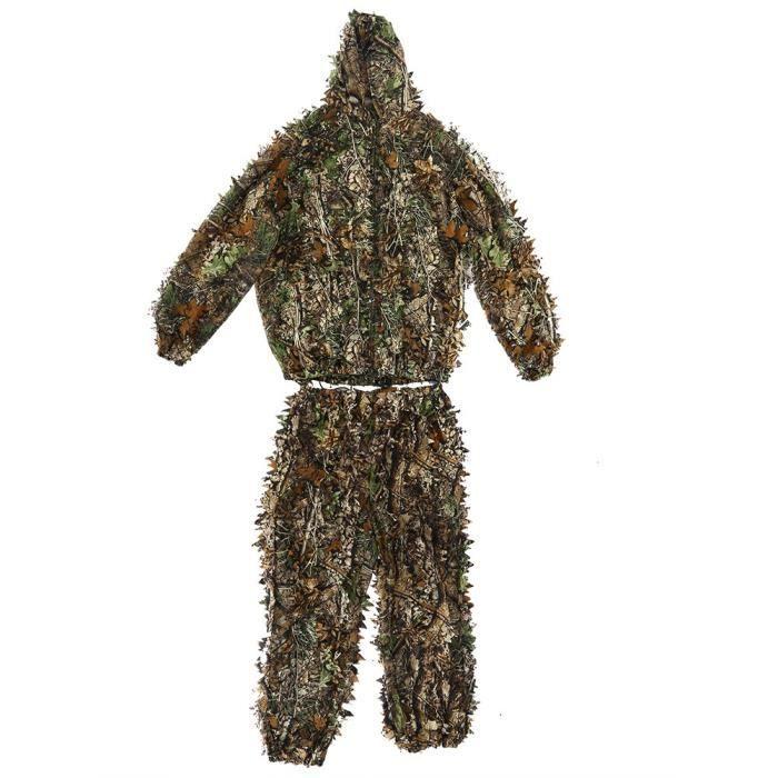 arriving best place aliexpress Suits Camouflage Feuille Ghillie Suit Woodland Camo Tenue de camouflage  jungle 3D Tireur Vêtements de d'élite-MAD