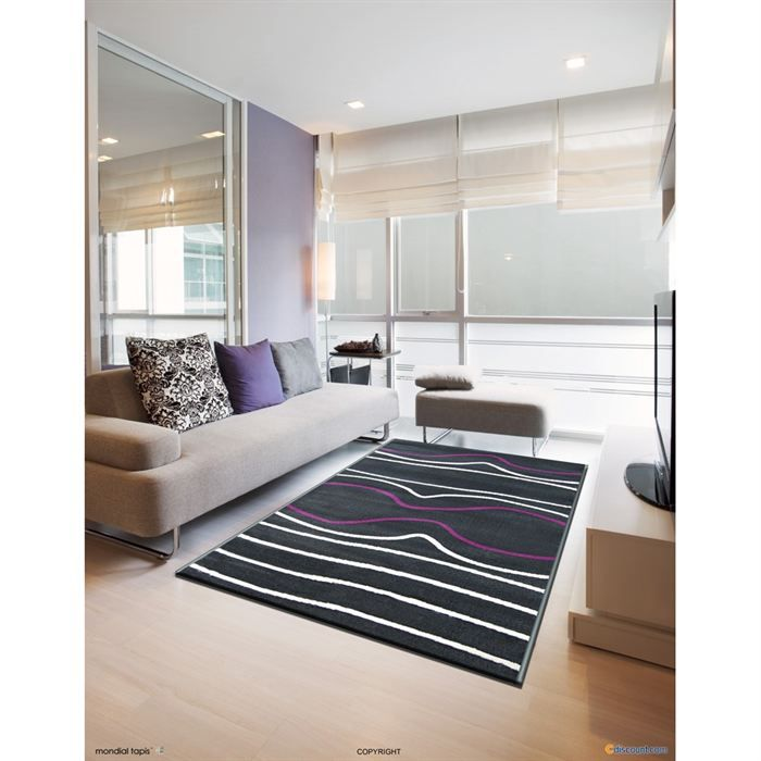 Tapis de salon rectangulaire 80x140 achat vente tapis 103 polypropyl ne - Tapis decoratif salon ...