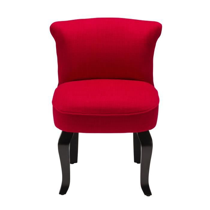 fauteuil crapaud lin rouge achat vente fauteuil cdiscount. Black Bedroom Furniture Sets. Home Design Ideas