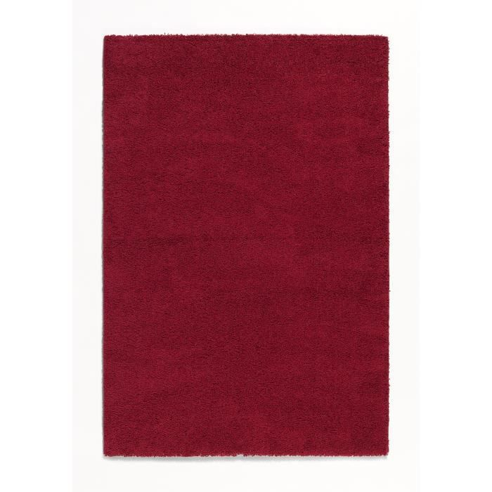 trendy tapis de salon shaggy rouge 80x140 cm achat. Black Bedroom Furniture Sets. Home Design Ideas