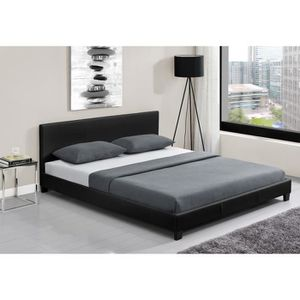 structure de lit achat vente structure de lit pas cher cdiscount. Black Bedroom Furniture Sets. Home Design Ideas